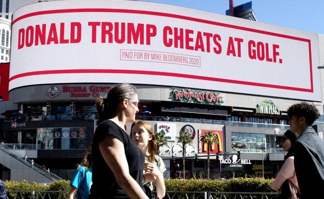 Bloomberg Trolls Trump With Giant Billboard On Vegas Strip