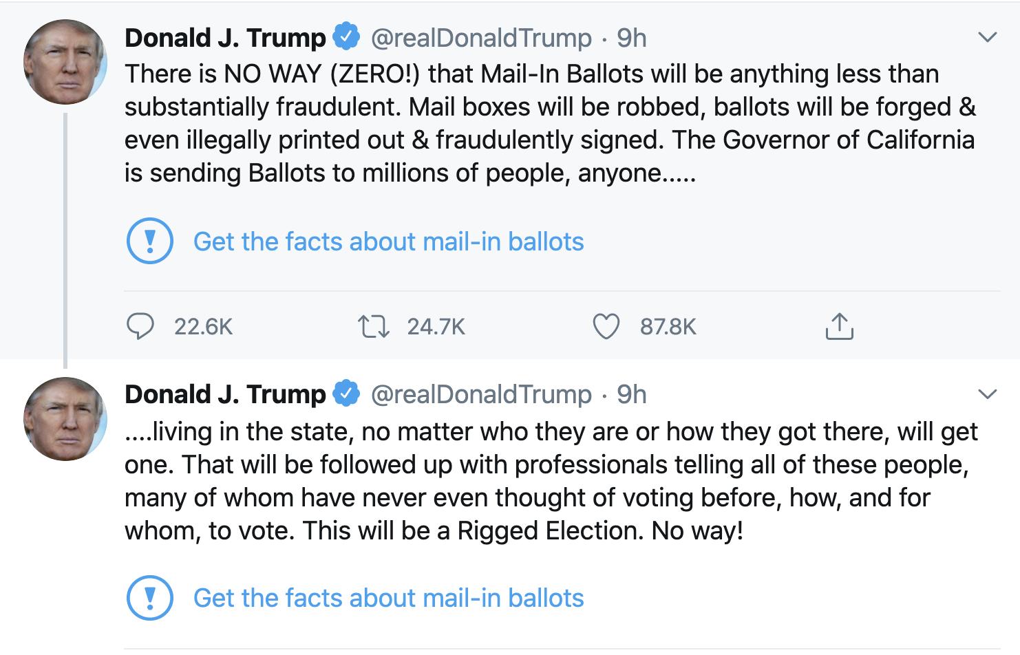 Twitter Finally Slaps Fact-Checks On Trump's Tweets