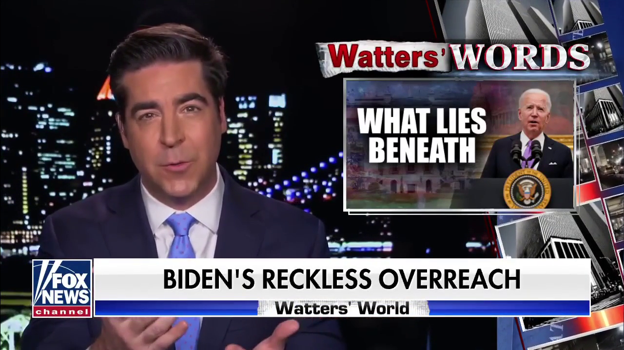 Jesse Watters Calls Biden's Rebuke Of White Supremacy A Declaration Of War On MAGA Under The Banner Of Unity