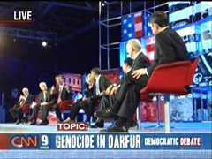 Demdebate2-Candidates-Darfur