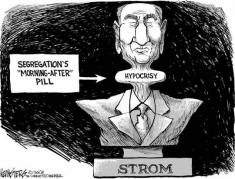 Strom Thurmond cartoon by Siers 2003