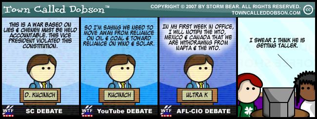 kucinich cartoon USED BY PERMISSION