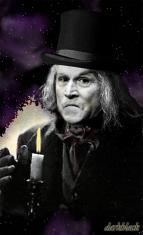 Bush as Scrooge. Original work by Darkblack for Crooks and Liars.