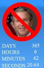 bush countdown clock from Facebook