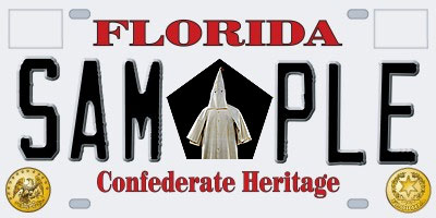 klan plate Florida