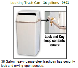 locking trash can