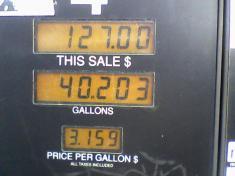 price per gallon - Homewood Alabama 3/5/08