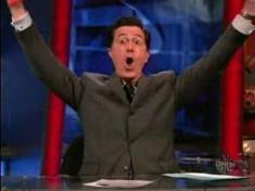 Colbert celebrates