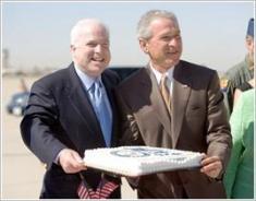 McCain Bush Birthday