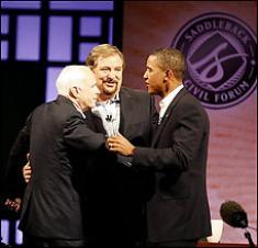 Warren Obama and McCain