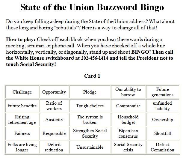 buzz word bingo