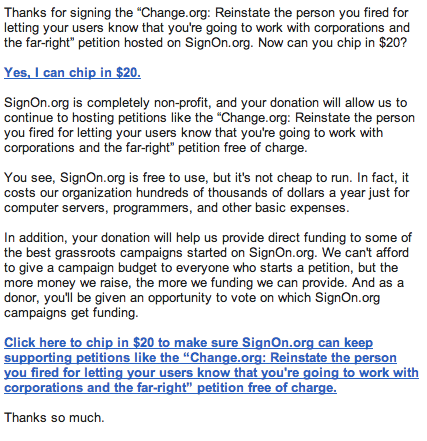 Why I Will Not Sign Another Change.org Petition, Ever | Crooks and ...