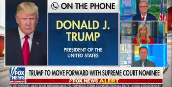 They Let Trump Phone In To Fox And Friends Again, Where He Trashes RBG's Last Wish